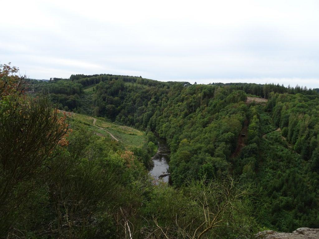 Auf unserer Singlewanderland Wanderung, Blick ins Tal der Ourthe