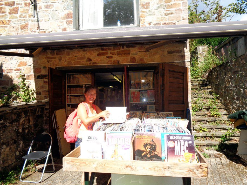 Ein Comic Geschäft in Redu, dem Literaturdorf in der Wallonie